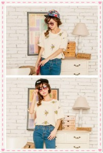 Honeybee Embroidery T-shirt