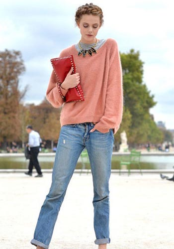 Batwing Sleeve Loose Sweater