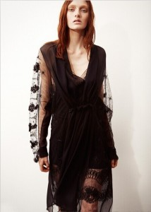 Hollow Out Sheer Sleeve T-shirts