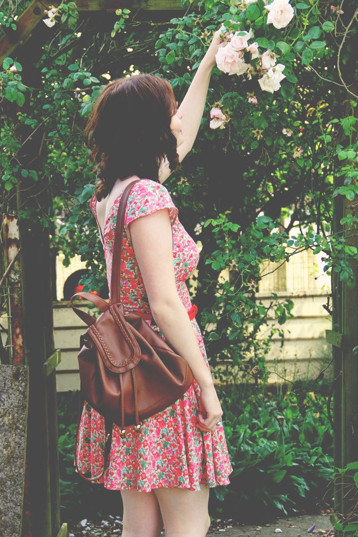 Rose Flower Backpack