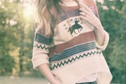 Elk Collision Color Sweater