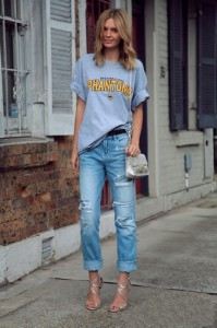 Vintage Hole Denim Jeans
