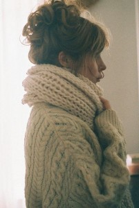 Knitted Sweater Thick Shawl
