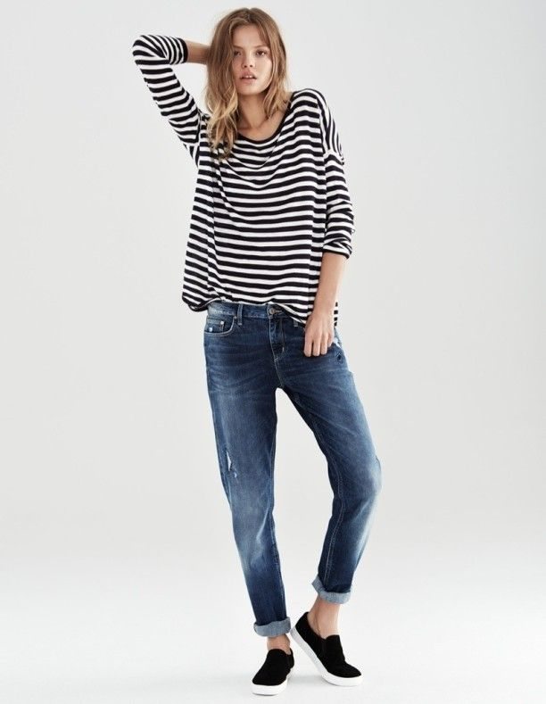 Loose Striped T-shirt