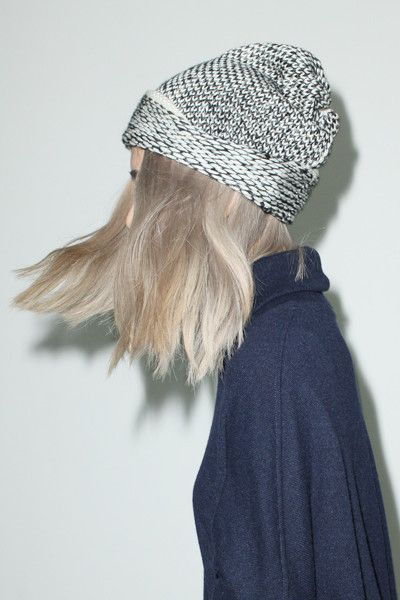 Stripe Wool Knit Hat