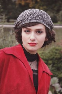 Rabbit Fur Beret Cap