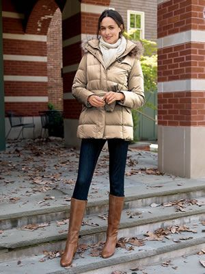 Women Warm Hooded Coat