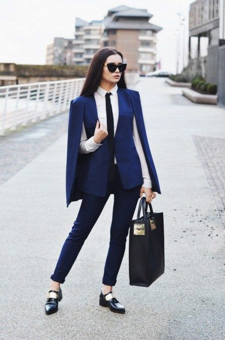 Long Sleeve Cape Blazer