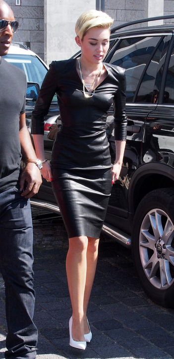 Patent Leather Tight Dress