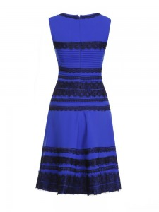Women Blue White Gold Dresses