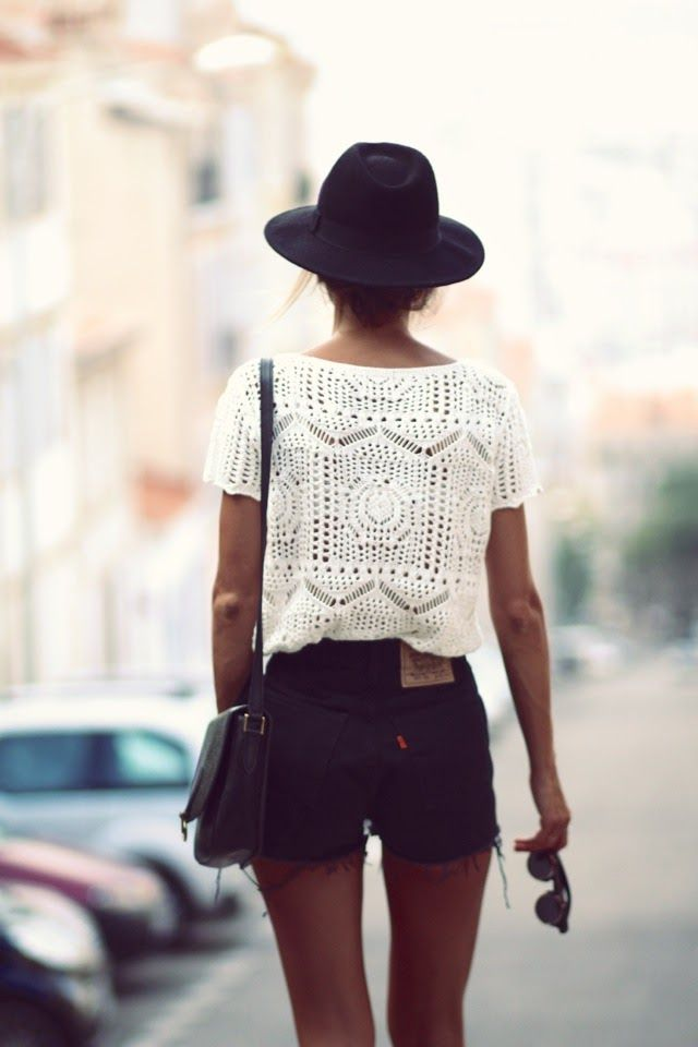 Lace Embroidered Cropped Blouse