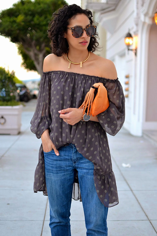off shoulder clothing