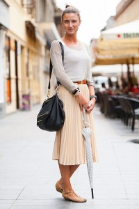 pleated skirts