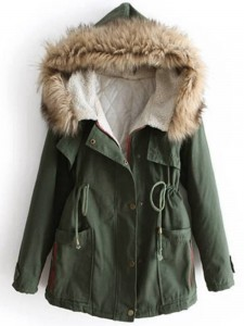 Army Green Cotton Coat