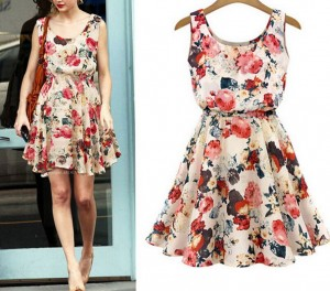 Women Sleeveless Floral Sundress