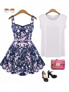 Women Sleeveless Floral Sundress1