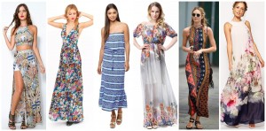 women printing summer dress