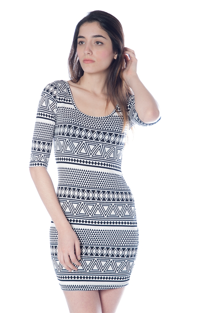 patterned bodycon